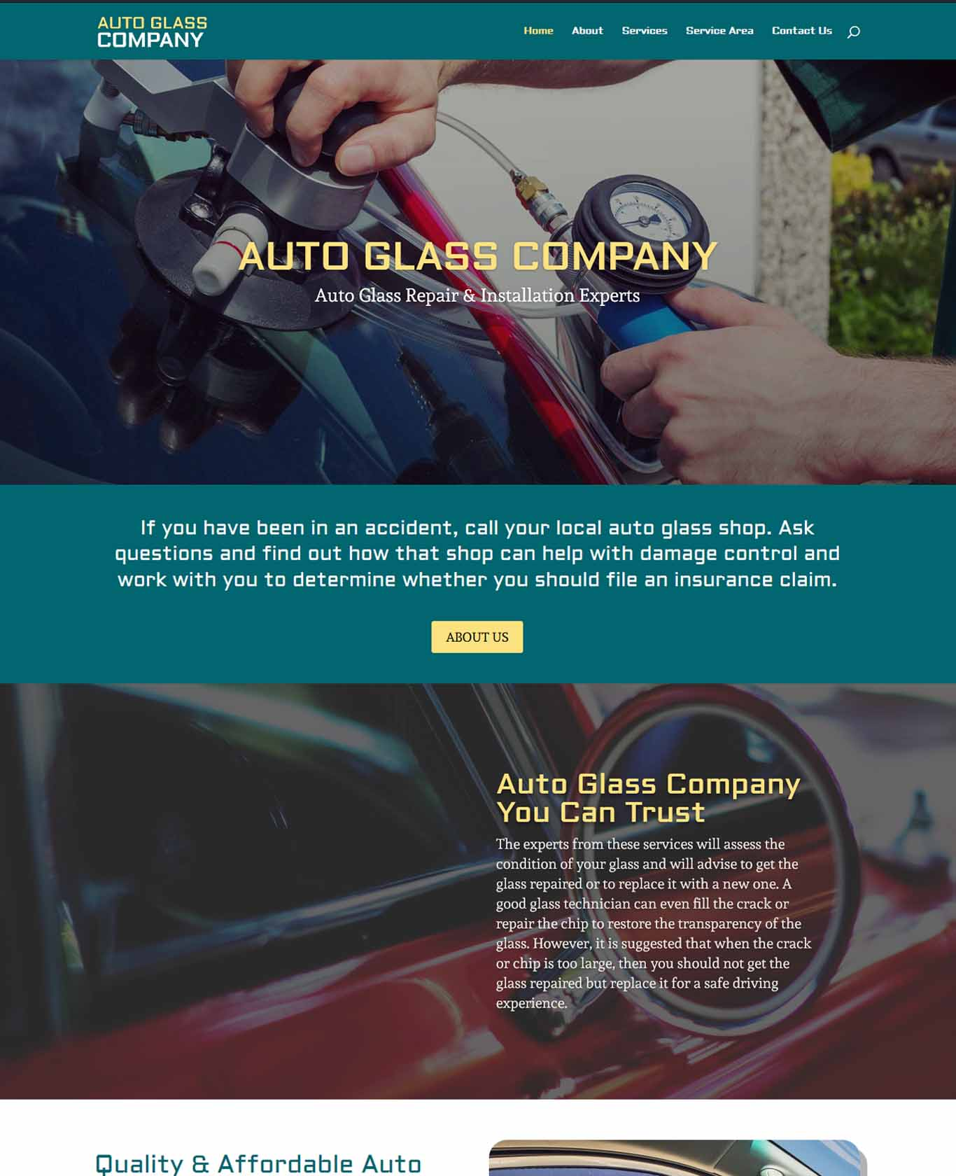 Excalibor Auto Glass Websites