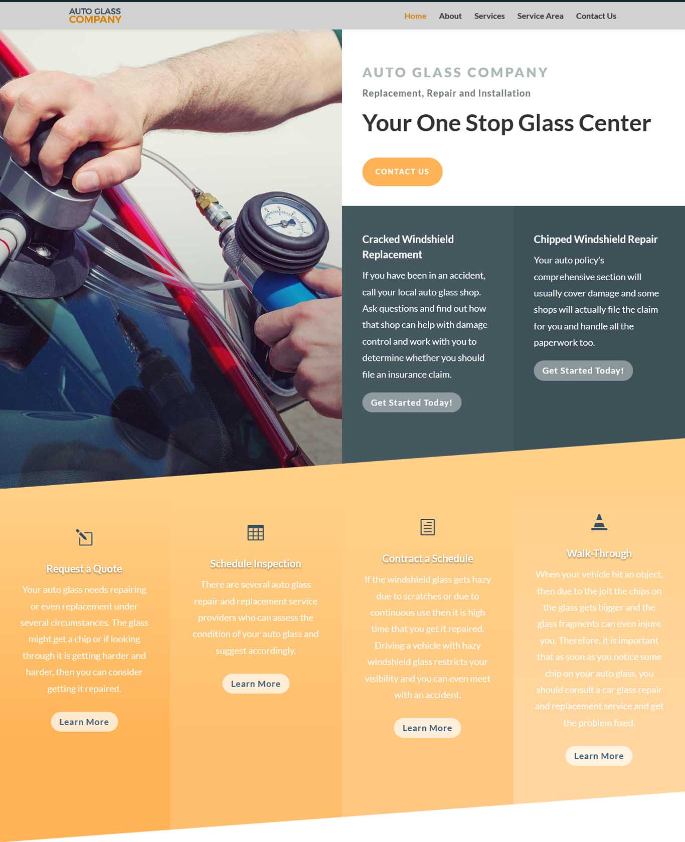 Prestige Auto Glass Websites Sample Works